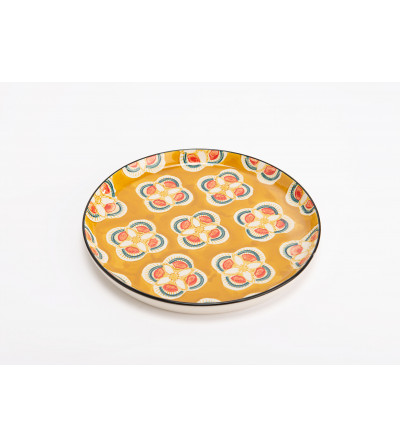 "Assiette plate ""Imany"" jaune"