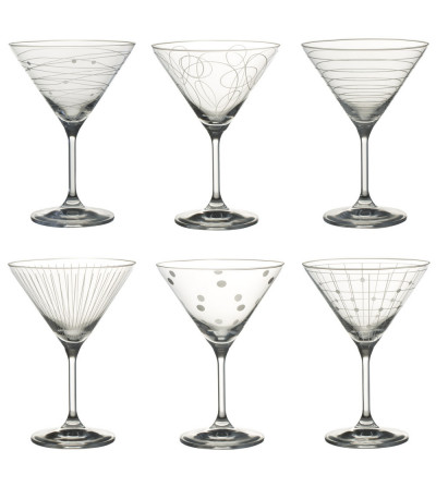 GRAPHIK - Coffret de 6 verres cocktail