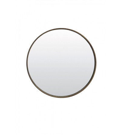 VIVIEN - Miroir  D41CM Bois brun - Light & Living